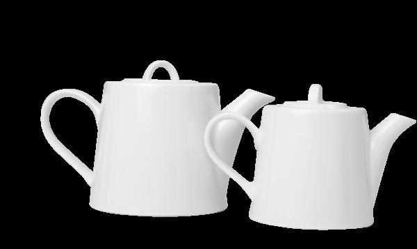 Access Bianco White Tea Pot 80cl + Lid