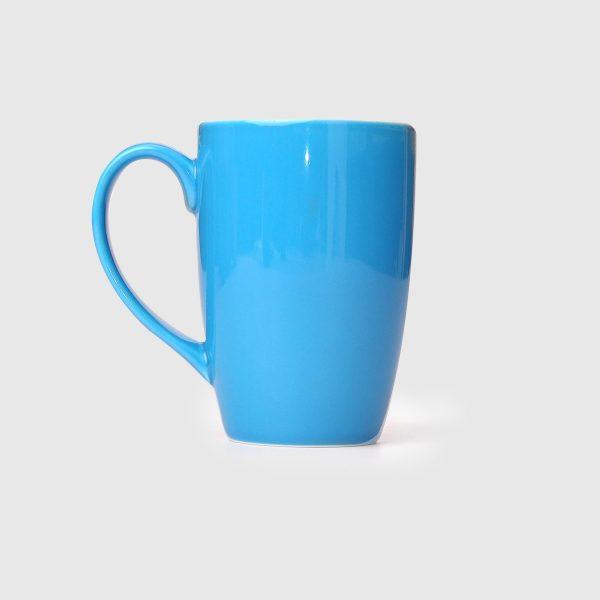 Mug Flora 30cl Turqouise Blue Metallic Gloss